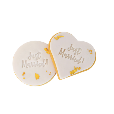 just married cookies