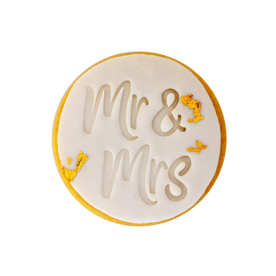 Mr and Mrs cookies
